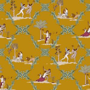 Neo-bucolic Mustard wallpaper