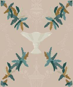 Neo-Rococo Beige wallpaper