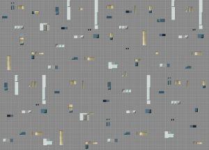 Pixels Grey/Blue wallpaper