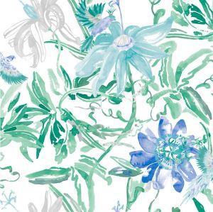 wallpaperblue flower jungle