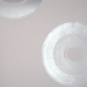 Long play silver wallpaper