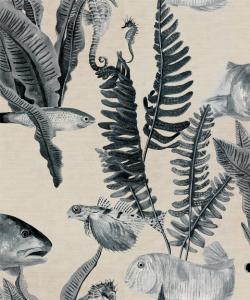 Bank of Fish Grey wallpaper