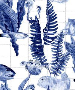 Bank of Fish Tiles wallpaper