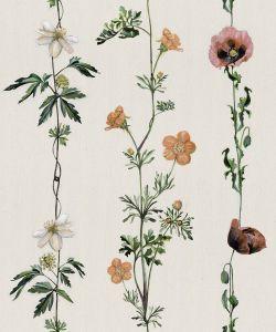 Climbing Flowers Linen wallpaper