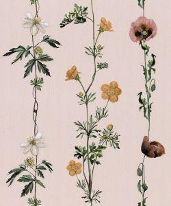 Climbing Flowers Pink wallpaper
