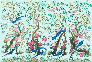 Mural Chinoiserie Turquoise