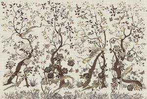 Mural Chinoiserie Brown