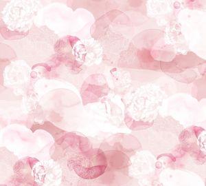 mural roses white