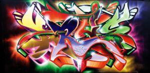 Mural graffiti wall