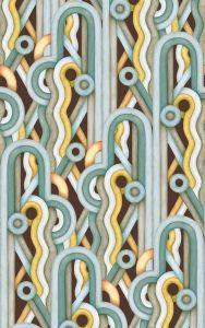 Caligrama Brown/Yellow wallpaper