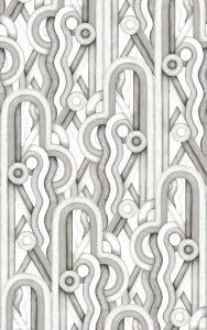 Caligrama Black/White wallpaper