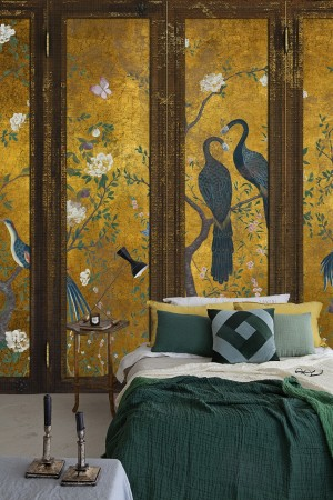 Mural Edo Screen Aqua