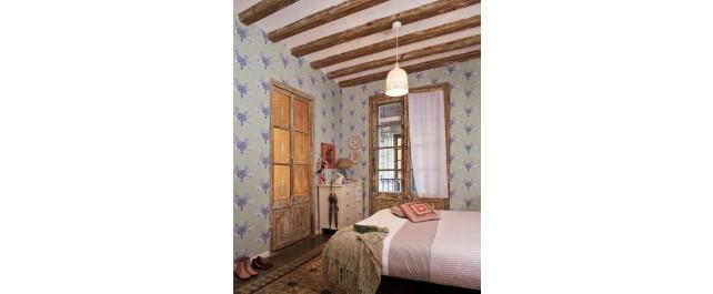 Catalina Estrada Wallpaper Lace Blue