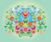 Catalina Estrada Wallpaper Heart Flowers