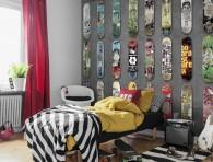 mural skateboard grey