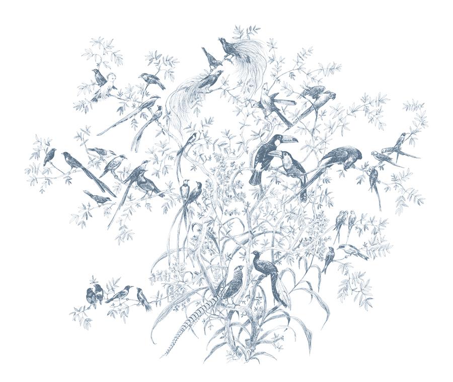 Tres Tintas Bird Song Mural