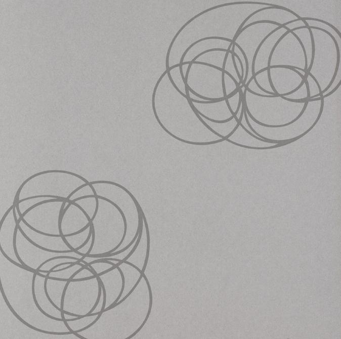 Papel Pintado Spin Plata