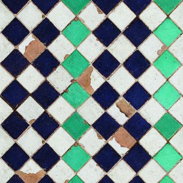 Papel Pintado Turquoise Chess